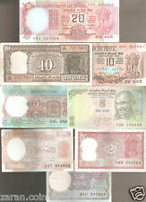 Vintage Republic India Bank notes OF 1/2/2/5/5/10/10/20 in Good condition.