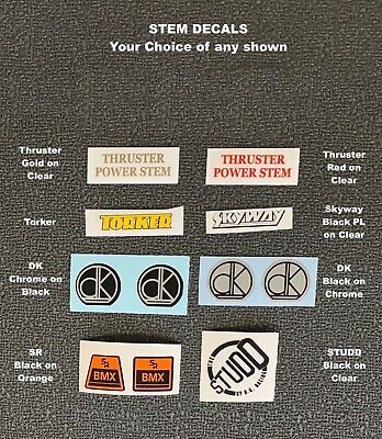 Chrome on Black Choice of 4 Variations MCS Stem Decals sale is for 1 decal