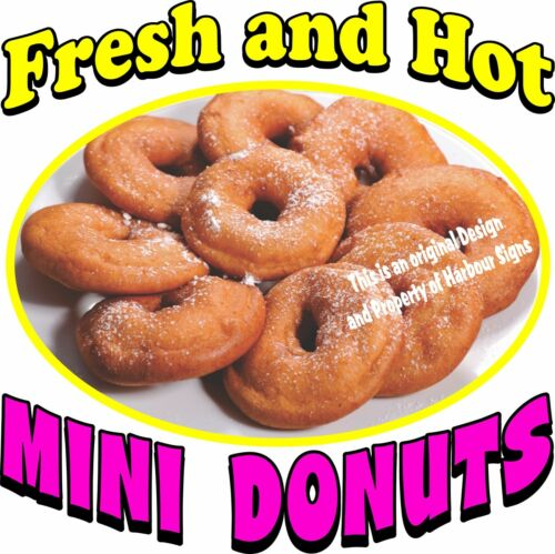 CHOOSE YOUR SIZE Fresh Hot Food Truck Restaurant Concession Mini Donuts DECAL