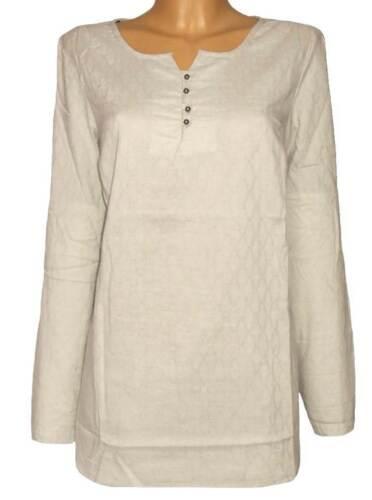 SHEEGO Damen Bluse Tunika Longbluse beige Gr B43 40 42 44 46 48 NEU