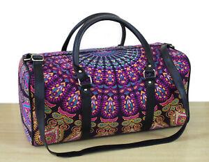 Mandala Duffle Indian Hippie Cotton Unisex Multipurpose Bag Boho Handbags