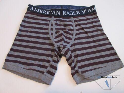 American Eagle AE Mens Classic Trunk Regular Length Gray Crimson Striped S NWOT