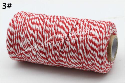 100Merter 2mm Cotton Bakers Twine String Cord Glass Bottle Gift Box Decor Craft