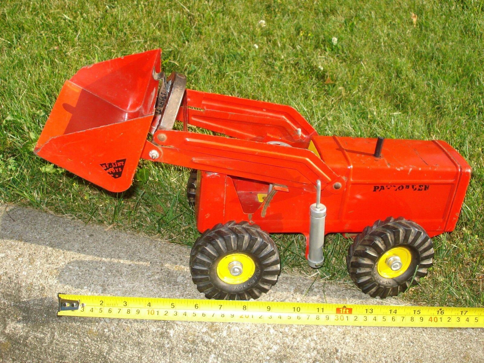 Vintage Nylint Juguetes Hough de acero prensado Payloader Camión Tractor Cochegador Rad-sales