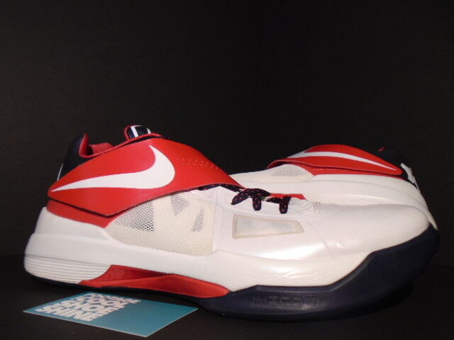 Nike Zoom KEVIN DURANT KD IV 4 USA OLYMPIC WHITE OBSIDIAN blueE RED 473679-103 12