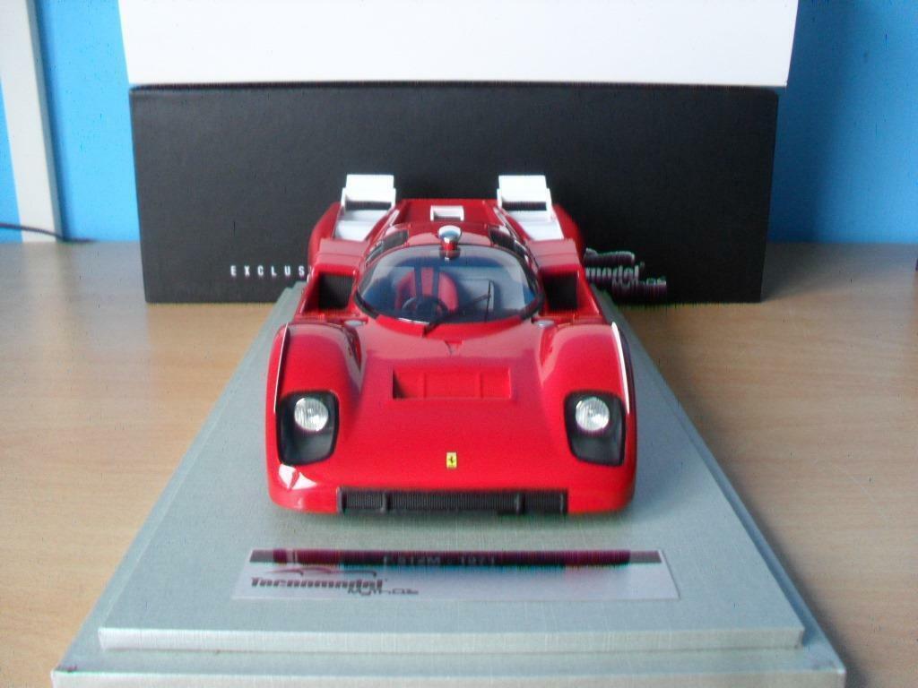 mejor vendido Ferrari 512M 1971 Press rojo Corsa Test Version 1 18 18 18 TecnoModel TM18-55A  venta con descuento