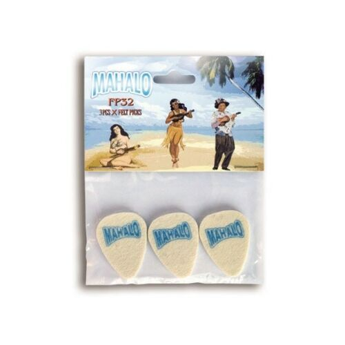 Pack of three lightweight felt picks UK SELLER Mahalo Felt Ukulele Plectrum