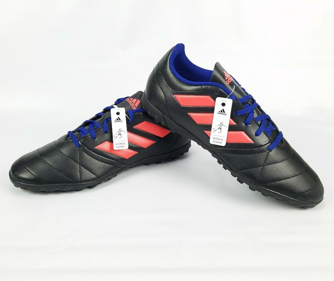 Adidas Women's Ace 17.4 TF Soccer shoes Black Easy Coral Dark bluee Size 9.5
