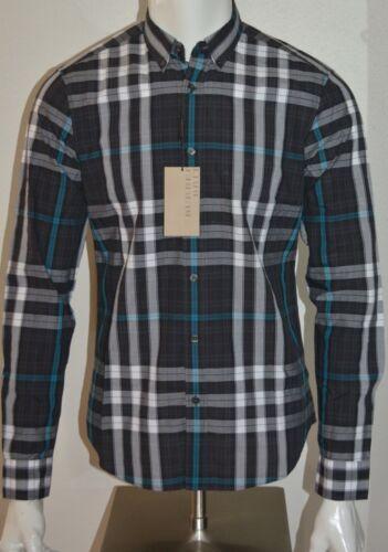 manga Mens Pequeña Burberry larga algodón Check de de Nova Camisa Nwt Sz 8OPwqPa