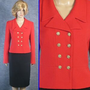 ce4d43f49889 Image is loading STUNNING-ST-JOHN-TEXTURED-KNIT-RED-JACKET-SZ-