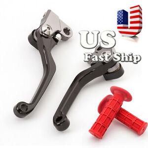 FXCNC-CNC-Pivot-Brake-Clutch-Lever-Handle-Grips-Fit-HONDA-CRF150R-2007-2018-US