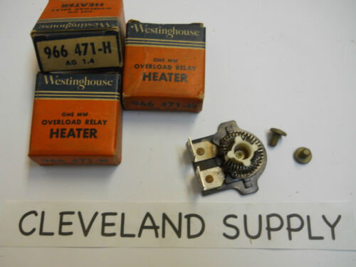 SET OF 3 NOS WESTINGHOUSE 966 471-H OVERLOAD RELAY HEATER ELEMENTS AG 1.4