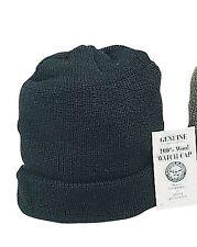 146c8100fef 100% Wool Watch Cap Military Warm GI Cold Winter Weather Snow Ski Hat USA  Made