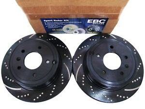 Rear EBC GD7373 3GD Series Dimpled and Slotted Sport Rotor