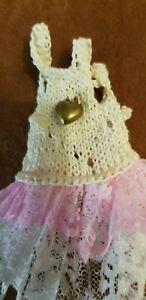 Taumkleidchen-for-A-Approx-4-11-16-5-1-8in-Bear-Girl-Or-Doll-Handarbeit