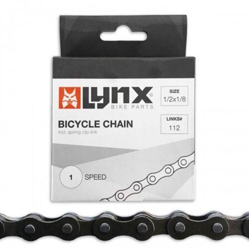 Fahrradkette Kette Nabenschaltung LYNX 1//2 X 1//8 schwarz 112Glieder 8.6 mm 27003