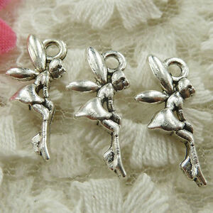 #4670 Free Ship 531 pcs Antique silver fairy charms 19x8mm