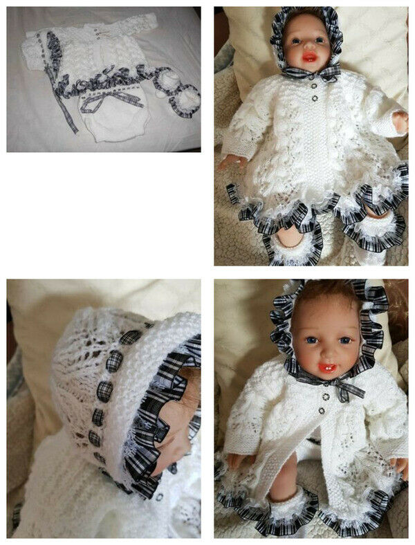 """Exquisite Hand knitted *4 x piece Hand Knitted Clothes Set for19/20"""" Reborn Doll"""