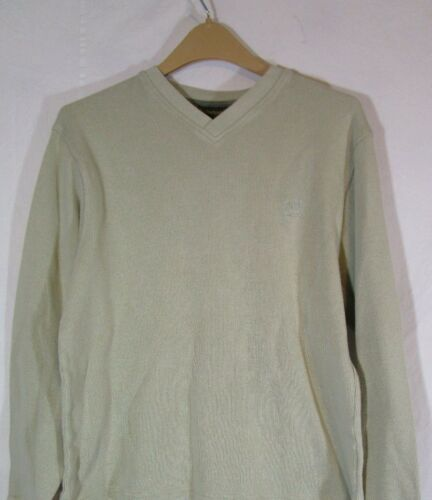Timberland Henley Ribbed Knit Thermal Sweater Larg