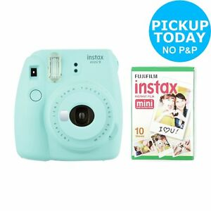 Fujifilm instax Mini 9 Instant Camera with 10 shots Built in Flash - Ice Blue