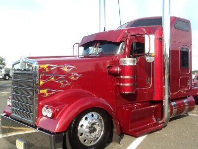 Chrome Tribal Flame decals 12pc set Peterbilt 379 389 Kenworth W900 Mack