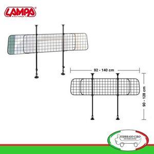 GRIGLIA DIVISORIA SEPARATORE RETE METALLICA PER BAULE AUTO CANE - LAMPA 60416