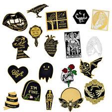 Halloween Death Badge Satan Creep Ghost Skeleton Demon Goth Witch Brooch Pins