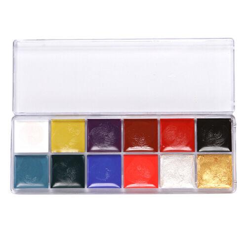 12 Farben Ungiftig und Gesund Farben Kinderschminken Schminkfarben