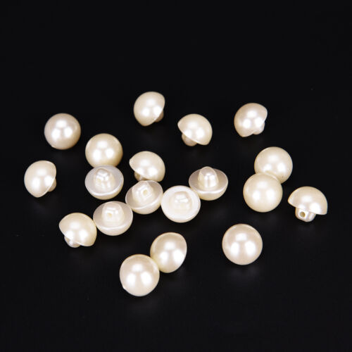 20PCs pearl white resin buttons coat boots sewing clothes accessory-new.