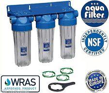 """10"""" Triple Water Filter Housing 1"""" + Bacinix Ring / Biodiesel"""