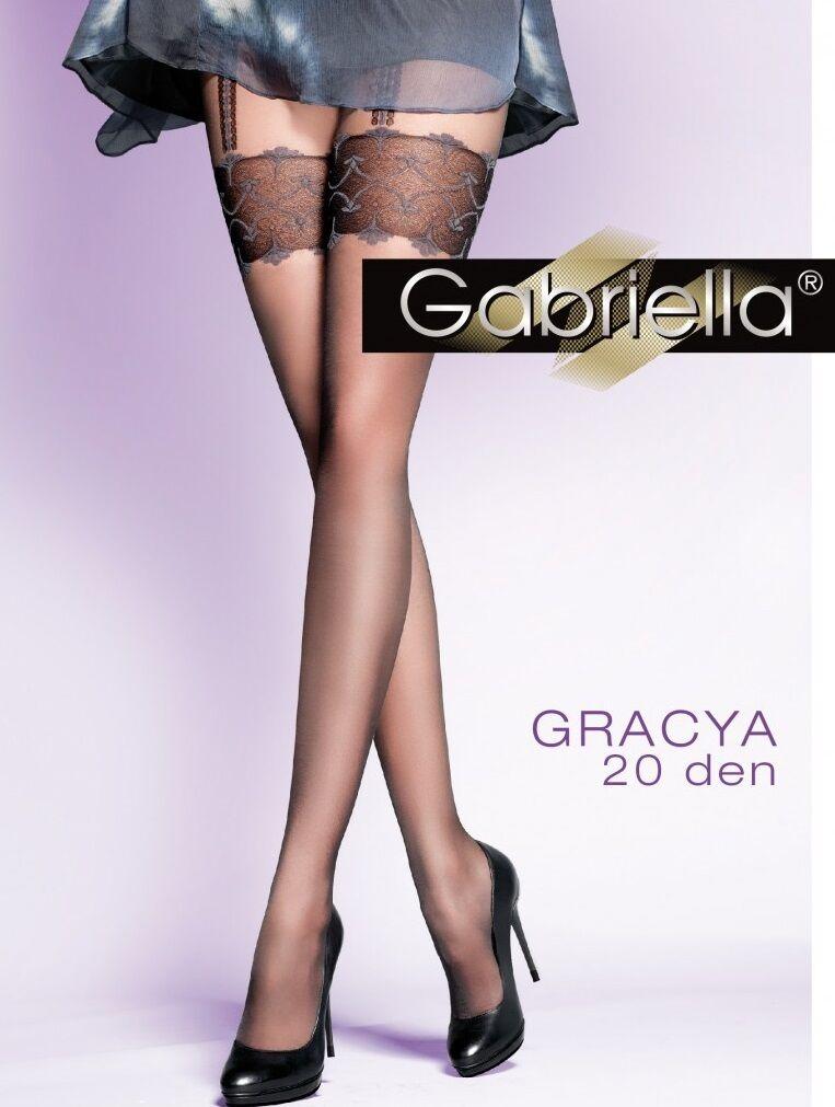 Gabriella Exklusive Damen Strumpfhose Gracya in Strapsoptik 20 DEN