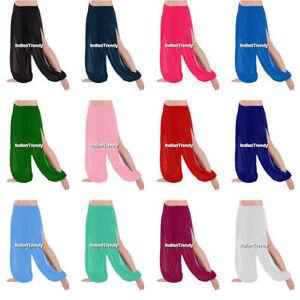 Mousseline-Fente-Harem-Yoga-Pantalons-Belly-Dance-Pant-Danse-Orientale-Halloween
