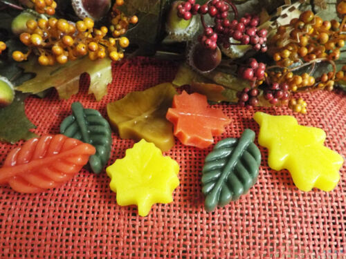 YOU PICK FRAGRANCE APPROX 30+ HIGHLY SCENTED GORGEOUS FALL WAX LEAF TARTS