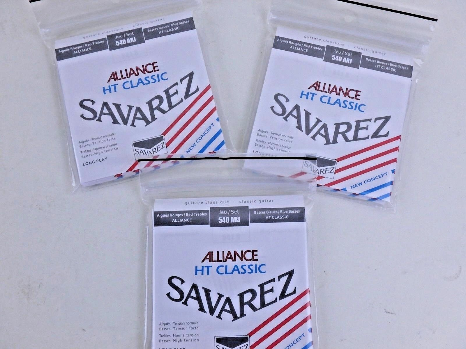 3 conjuntos  SAVAREZ Alianza de cuerdas para para para guitarra 540ARJ  tensión mixta  los nuevos estilos calientes
