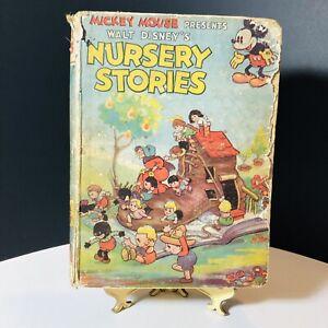 Vintage Walt Disney's NURSERY STORIES Collins 1935 FIRST EDITION