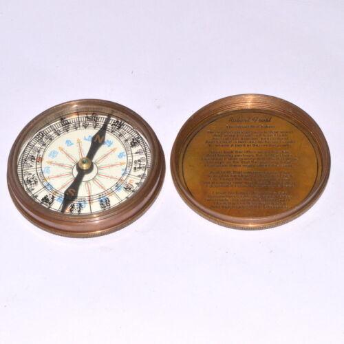 Vintage Marian Directional 1917 Poem Engrav London Compass Old Marine Divin item