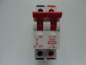MEM EATON 100A ASN100R// ASN100 2 POLE ISOLATOR.