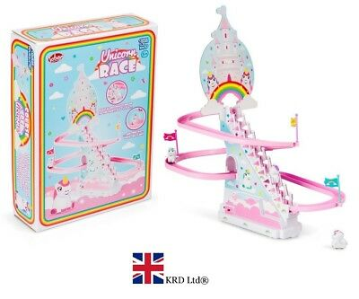 NEW 2018 Unicorn Race Slide Game Classic Racer With Music Kids Toys Toddlers Fun
