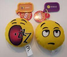 Lot of 2 Emoji Mini Stuffed Plush McDonald's Toys Yawn Whatever w/ original tags