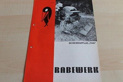 144441 Rabewerk Scheibenpflug Prospekt 06/1971 Fink