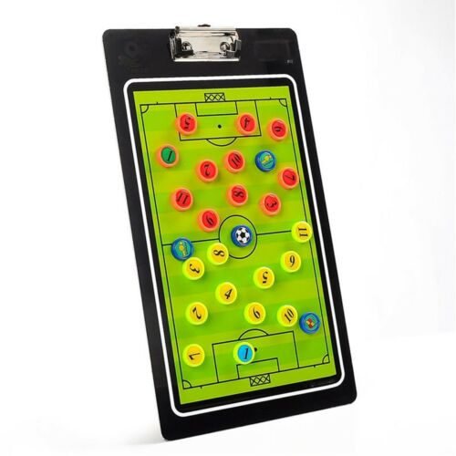 Football Coach Tactics Folder Coaching Clipboard Magnetic Soccer Ball PVC Board