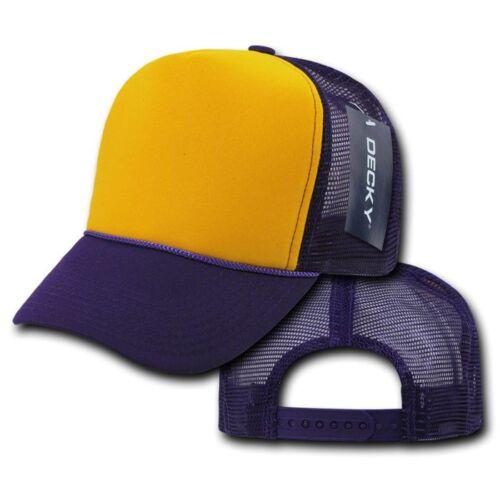 1 Dozen Decky Industrial 5 Panel Trucker Hats Caps Two Tone Wholesale