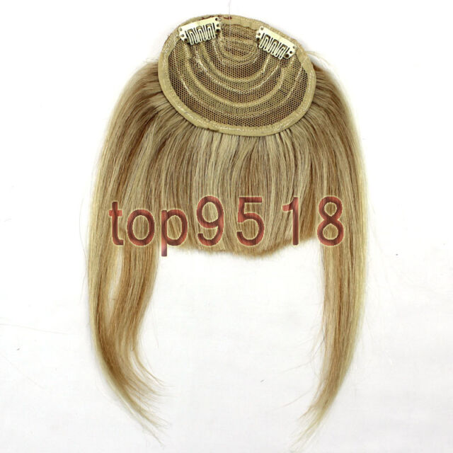 New Fashion Clip on Front Inclined Bangs Fringe Human Hair Extensions 16colors