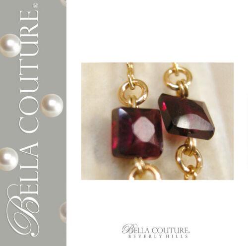 595-NEW-BC-VICTORIAN-ANTIQUE-18K-GOLD-GARNET-DIAMOND-CUSHION-ROSE-CUT-NECKLACE