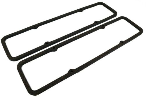 SBC Small Block Chevy Black Tall Valve Cover+Rubber Steel Gasket 283 327 400 350
