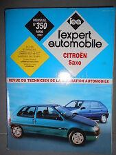 Citroën SAXO dont VTS et diesel : revue technique EA 350
