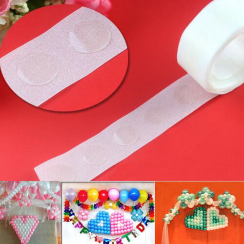 100Pcs//Roll Double Side Removable Adhesive Glue Dots Balloon Party Ornament