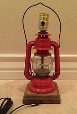 Vtg DIETZ No.60 RANCH CRAFT LANTERN  TABLE LAMP Red Mid-Century Working