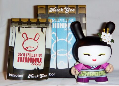 Kidrobot HUCK GEE Gold Life Dunny Geisha Plum Purple 1//16 KR Girl Japanese Vinyl