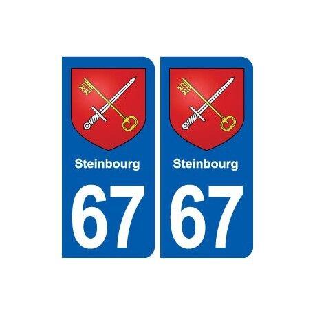 67 Steinbourg blason autocollant plaque stickers ville arrondis